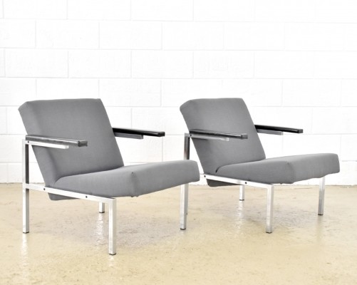 Set of 2 SZ63 lounge chairs from the sixties by Martin Visser for Spectrum