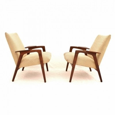 Dutch teak Ruster chairs by Yngve Ekström for Pastoe, 1950s