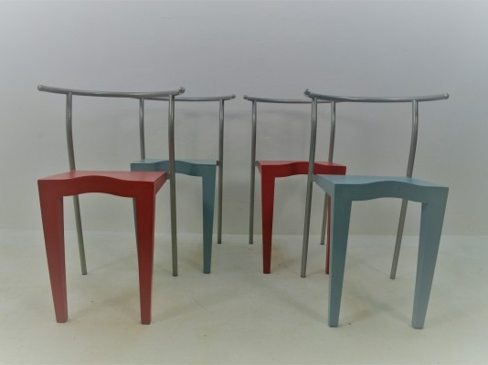 4 Dr Glob arm chairs from the eighties by Philippe Starck for Kartell