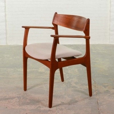Mid-Century Scandinavian Teak Desk- armchair by Erik Buch for Oddense