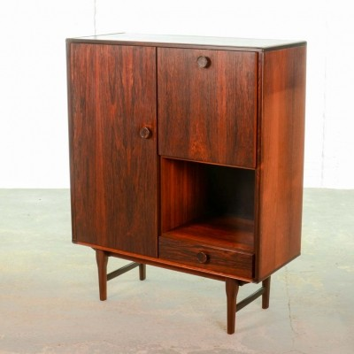 Mid-Century Dutch Design Rosewood Bar Cabinet for Fristho Franeker, 1960s