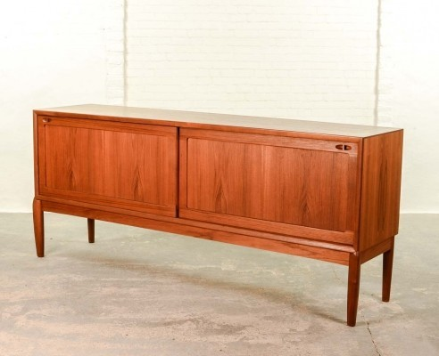 Mid-Century Danish Low Sideboard Credenza by H.W. Klein for Bramin