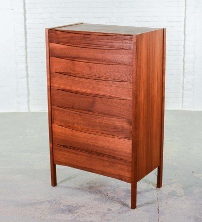 Mid-Century Danish Teak Tall Chest of Drawers by Arne Vodder for Sibast, 1960s