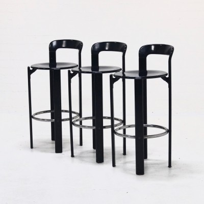 Set of 3 stools from the seventies by Bruno Rey for Dietiker Swiss