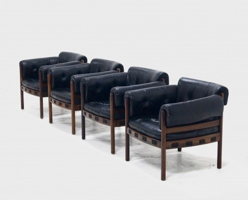 4 lounge chairs from the fifties by Arne Norell for Coja