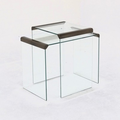Set of 2 nesting tables from the sixties by unknown designer for Galotti & Radice