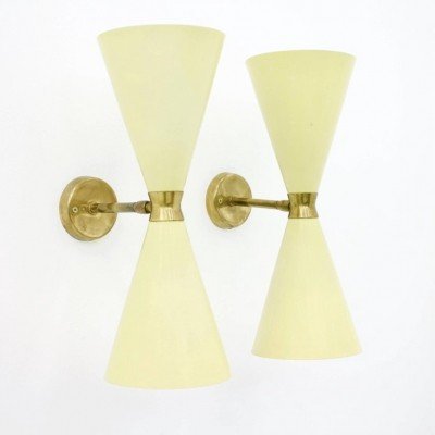 Pair of Diabolo Wall Sconces, 1950s