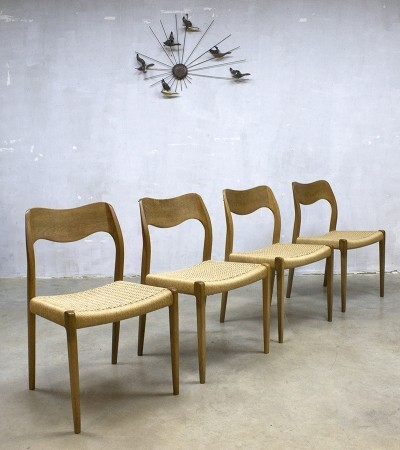 Set of 4 dinner chairs from the fifties by Niels Otto Møller for JL Møller Møbelfabrik