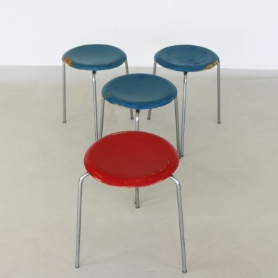 Arne Jacobsen three legged stools, 1960s