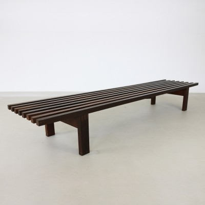 Typical sixties design slat bench for Castelijn