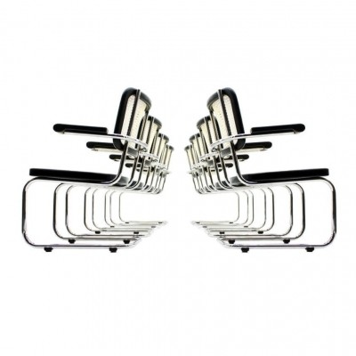Set of 8 S67 dinner chairs by Mart Stam for Thonet, 1930s