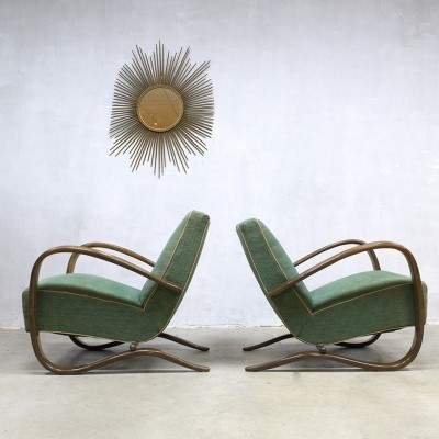 2 x H-269 lounge chair by Jindřich Halabala for UP Závody Brno, 1920s