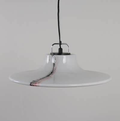 Large Murano glass Ufo hanging lamp by Peill & Pützler, 1970s