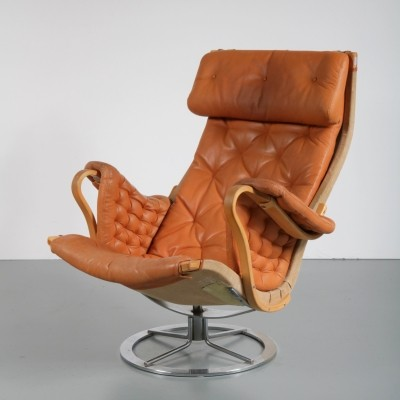 Lounge chair by Bruno Mathsson for Dux, 1960s