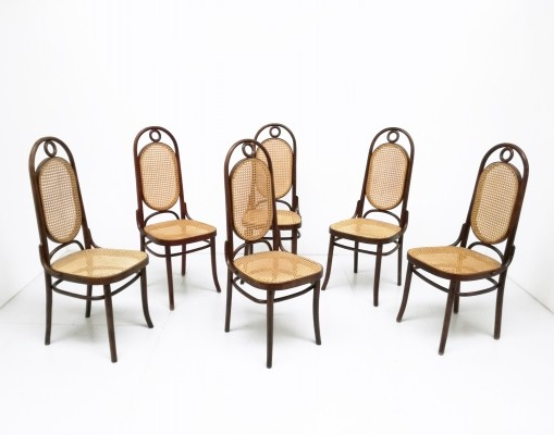 Set of 6 N° 17 dinner chairs by Michael Thonet for Thonet, 1920s