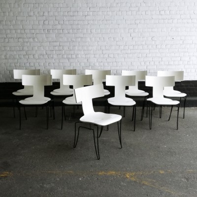 4 x Anziano dinner chair by John Hutton for Donghia, 1980s