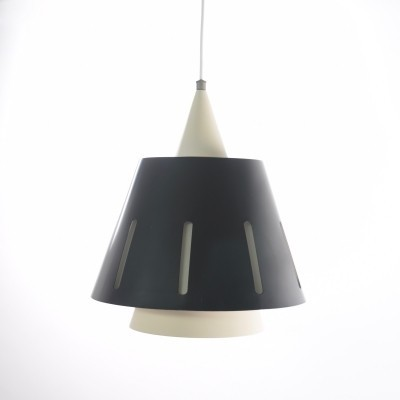 Zonneserie No. 10 hanging lamp by H. Busquet for Hala Zeist, 1950s