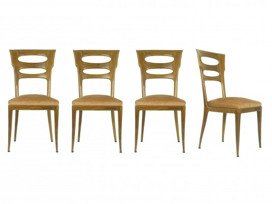 Italian sculptural dining chairs from 1940s, set of 4