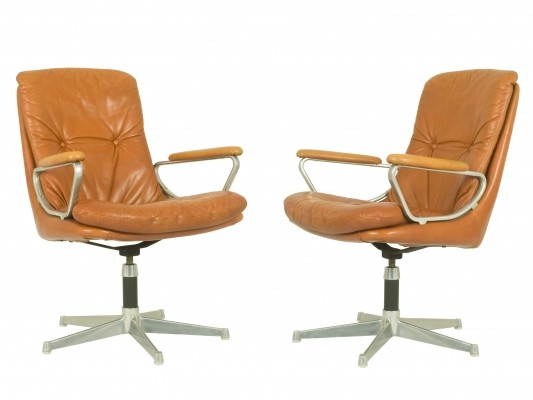 Set of 2 Gentilina Armchairs by André Vandenbeuck for Strässle, 1960s