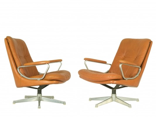 Set of 2 Gentilina Loungechairs by André Vandenbroeck for Strässle, 1960s