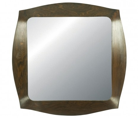 Savino Rosewood Mirror by Campo e Graffi for Home, 1960s
