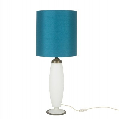 Abat-Jour Table Lamp in Brass & Opaline Glass from Stilnovo, 1950s