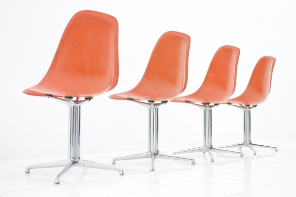 Set of 4 La Fonda dinner chairs by Charles & Ray Eames for Vitra, 1960s