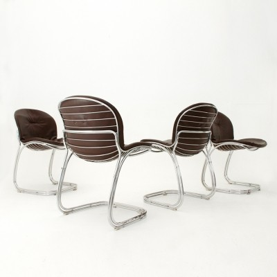 Set of 4 Sabrina dinner chairs by Gastone Rinaldi for Rima, 1970s