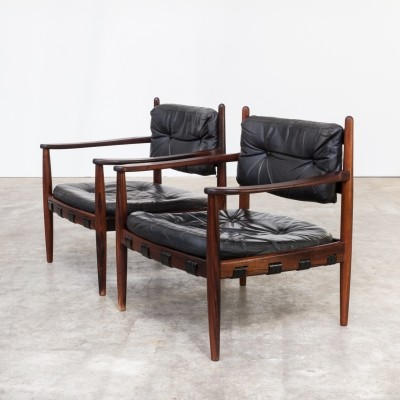 Pair of lounge chairs by Arne Norell for Arne Norell AB, 1950s