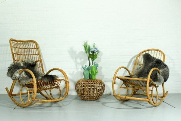 Pair of vintage rocking chairs, 1970s