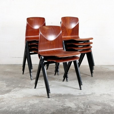 10 x Pagholz dining chair, 1960s