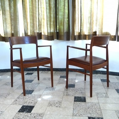 Pair of Korup Stolefabrik arm chairs, 1960s