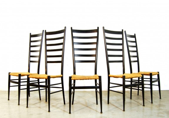 Set of 5 vintage dinner chairs, 1960s