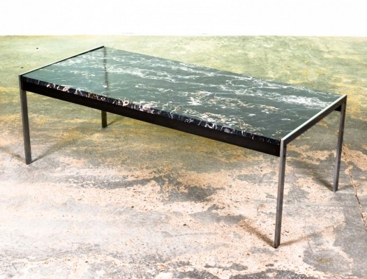 Black Marble & Brushed Steel Coffee Table by Kho Liang Ie for Artifort