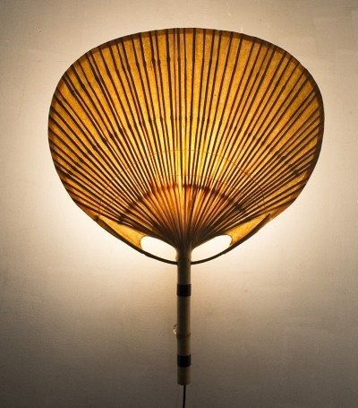 Uchiwa wall lamp by Ingo Maurer for Design M, 1970s