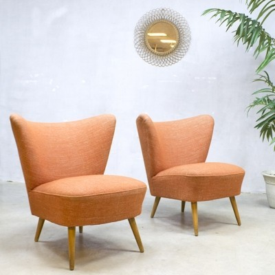 2 x Cocktail lounge chair, 1950s