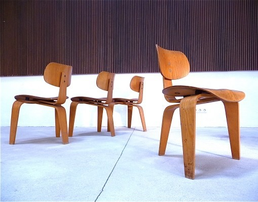 Set of 4 SE 42 dinner chairs by Egon Eiermann for Wilde und Spieth, 1940s
