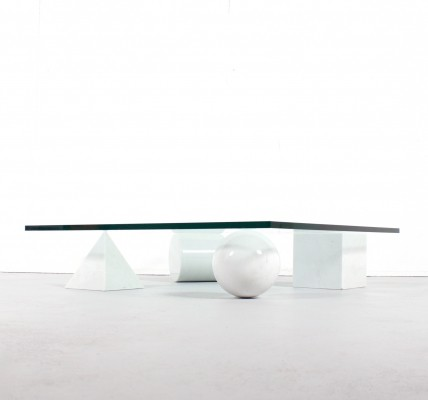 Metaphora coffee table by Massimo Vignelli for Martinelli Luce, 1970s