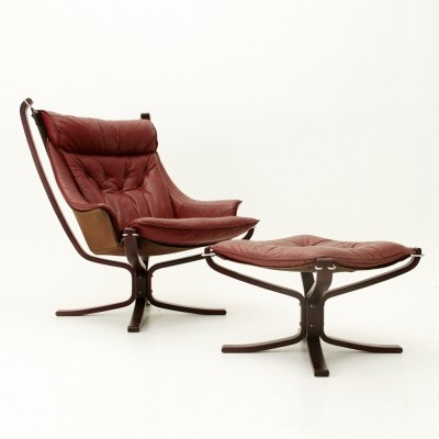 Falcon lounge chair by Sigurd Ressell for Poltrona Frau, 1960s
