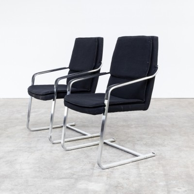 Pair of Walter Knoll dinner chairs, 1970s