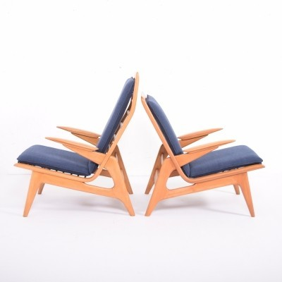 Pair of De Ster Gelderland arm chairs, 1960s
