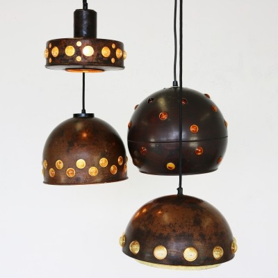 Set of 4 hanging lamps by Nanny Still for Raak Amsterdam, 1960s