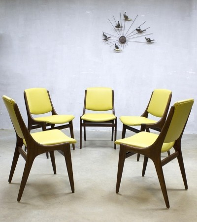 Set of 5 MahJongg Alkmaar dinner chairs, 1960s