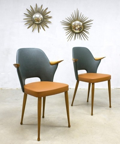 Pair of Stevens Nederland dinner chairs, 1950s