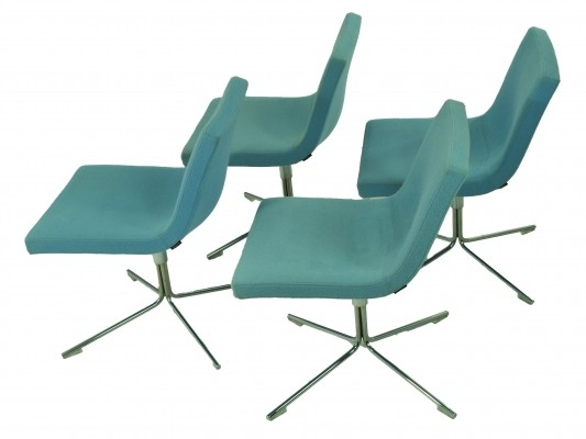Set of 4 Offecct dinner chairs, 1970s