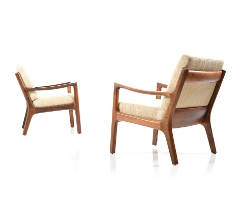 Pair of rare Senator Easychairs in Rosewood by Ole Wanscher