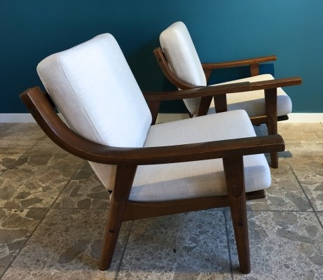 Pair of GE 530 lounge chairs by Hans Wegner for Getama, 1970s
