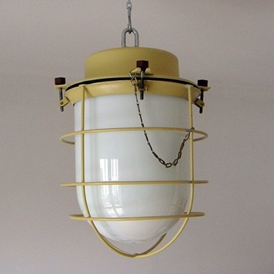 20 x lantern in yellow metal & white opaline, old stock, never used