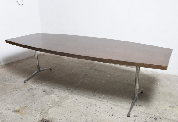 Large Wenge Knoll International Conference-Dining Table, 1960s