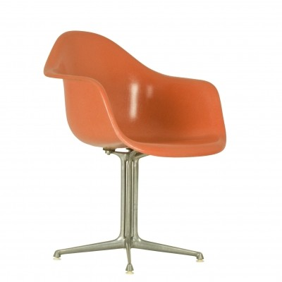 DAX Fiberglass Armchair with 'La Fonda' base by Charles & Ray Eames for Herman Miller, 1970s